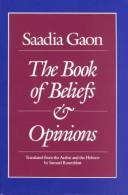 Download The book of beliefs and opinions
