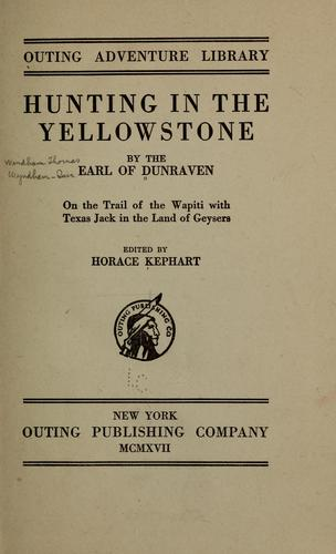 Download Hunting in the Yellowstone