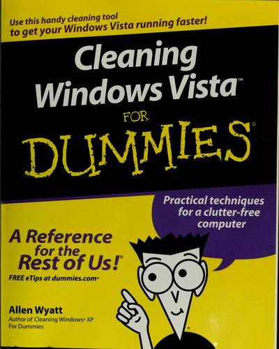 Download Cleaning Windows Vista for dummies