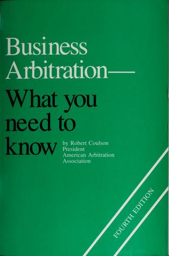 Download Business arbitration–what you need to know