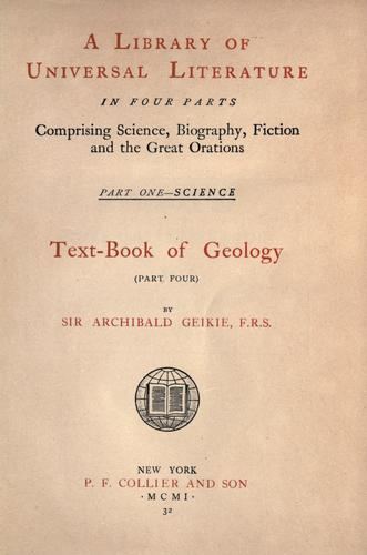 Text-book of geology.
