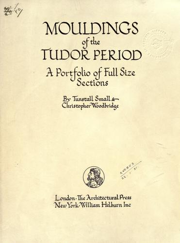 Mouldings of the Tudor period