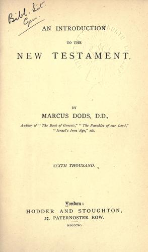 An introduction to the New Testament.