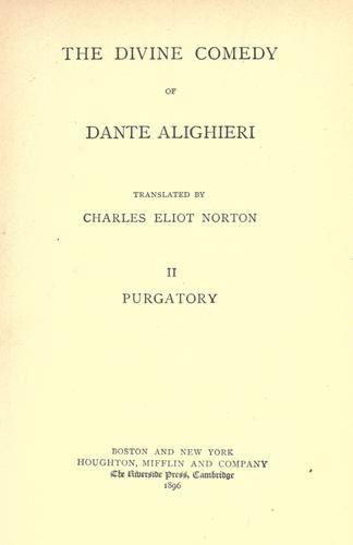 The Divine comedy of Dante Alighieri by Dante Alighieri