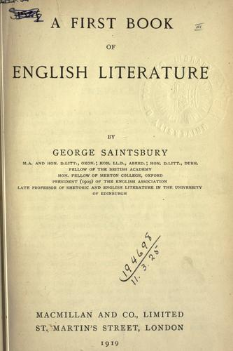 A first book of English literature.