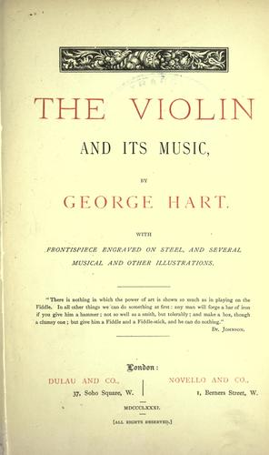 The violin and its music