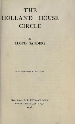 The Holland House circle.
