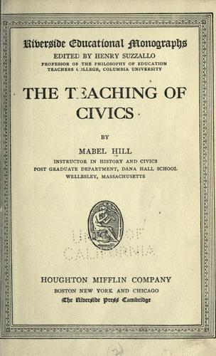 Download The teaching of civics
