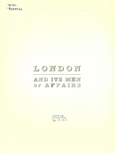 London and its men of affairs.