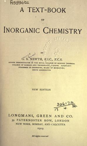 A text-book of inorganic chemistry.