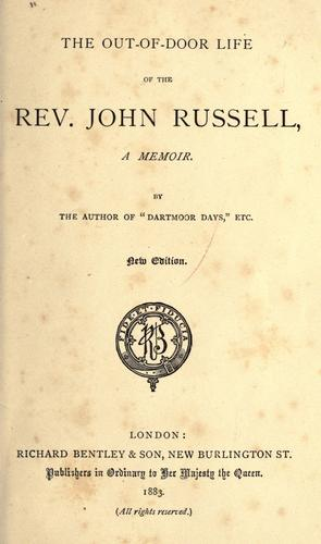 Download The out-of-door life of the Rev. John Russell