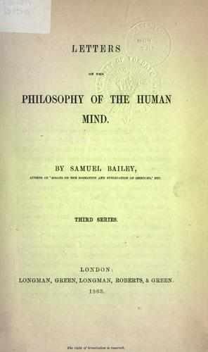 Letters on the philosophy of the human mind