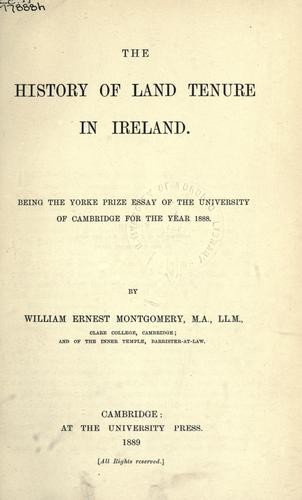 Download History of land tenure in Ireland.