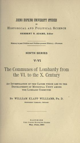 Download The communes of Lombardy from the VI. to the X. century.