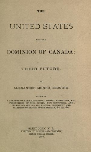 Download The United States and the Dominion of Canada