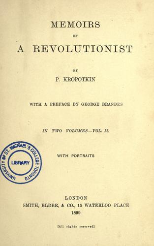 Download Memoirs of a revolutionist