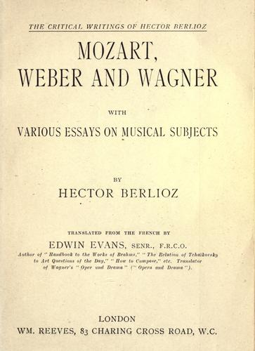 Download Mozart, Weber and Wagner