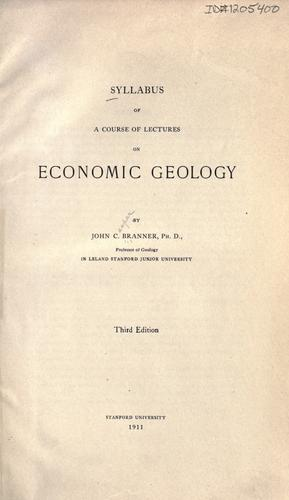 Download Syllabus of a course of lectures on economic geology