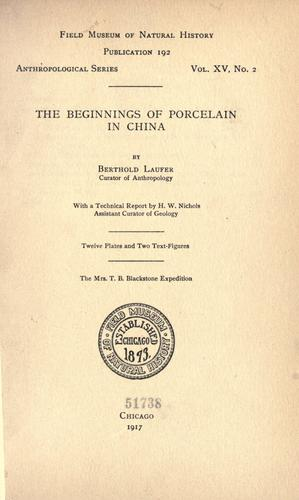 Download The beginnings of porcelain in China