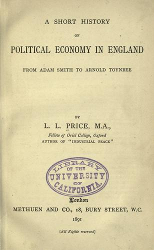 A short history of political economy in England