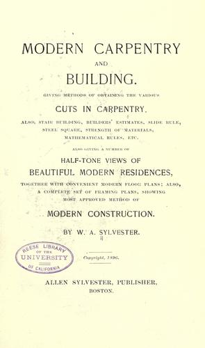 Download Modern carpentry and building