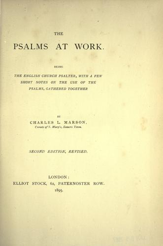 Download The Psalms at work