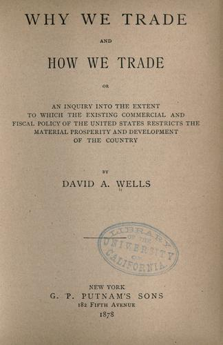 Download Why we trade and how we trade