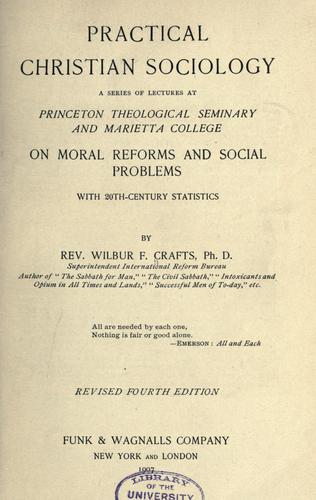 Practical Christian sociology