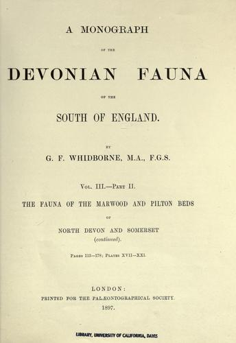 A monograph of the Devonian fauna of the south of England (Open ...