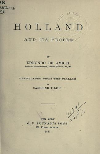 Download Holland, and its people