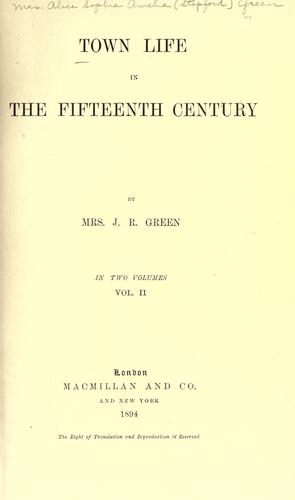 Download Town life in the fifteenth century