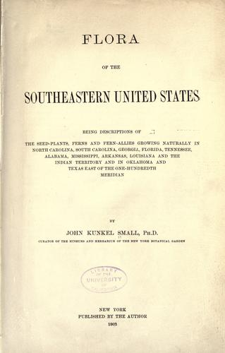 Download Flora of the southeastern United States