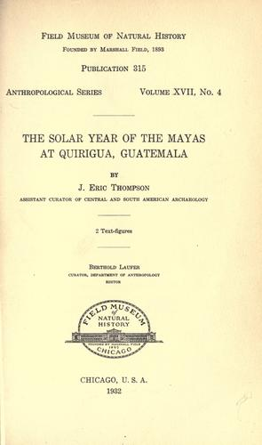 Download The solar year of the Mayas at Quirigua, Guatemala
