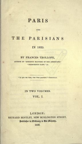 Download Paris and the Parisians in 1835