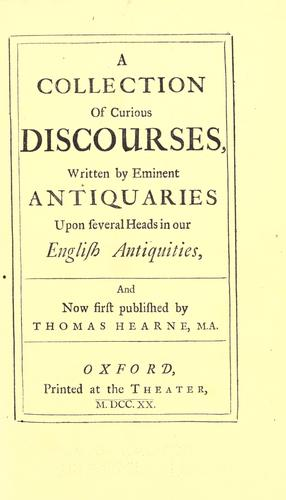 Download A collection of curious discourses