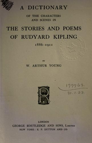 Download A dictionary of the characters and scenes in the stories and poems of Rudyard Kipling, 1886-1911