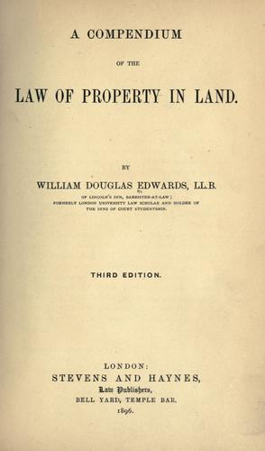 Download A compendium of the law of property in land.
