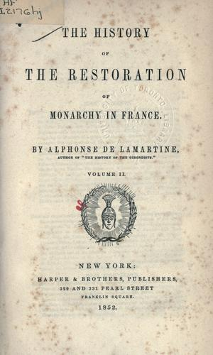 Download History of the restoration of monarchy in France.