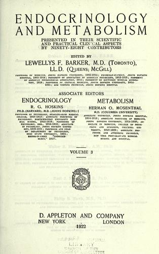 Download Endocrinology and metabolism