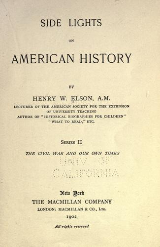 Download Side lights on American history