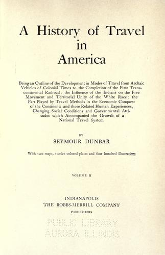 Download A history of travel in America
