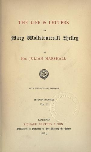 Download The life & letters of Mary Wollstonecraft Shelley