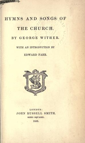 Hymns and songs of the Church.
