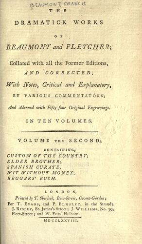Plays by Francis Beaumont
