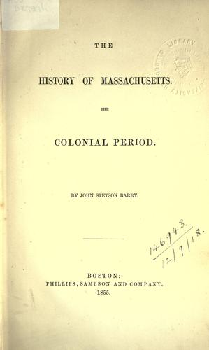 The history of Massachusetts.
