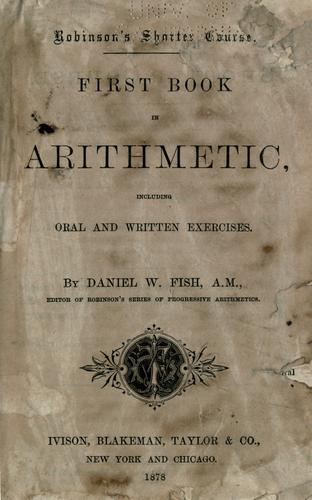 First book in arithmetic