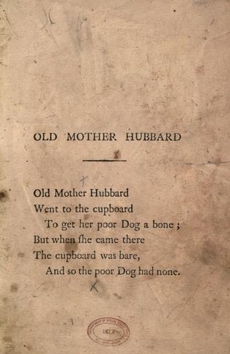 Old Mother Hubbard and her dog.