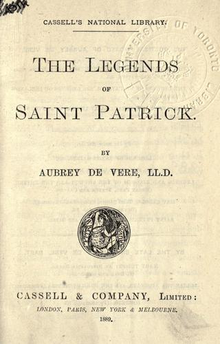 The legends of Saint Patrick.