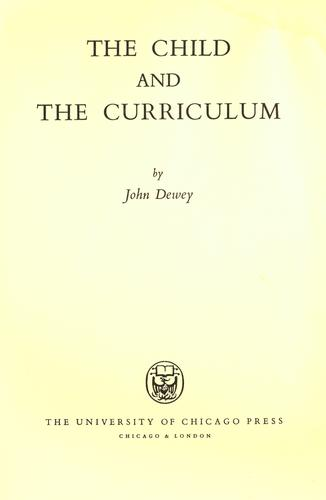 Download The child and the curriculum