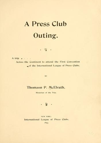 Download A press club outing.